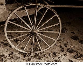 Sepia Cart Wheel