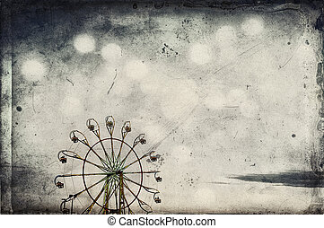 Sepia Ferris Wheel - Ferris wheel with added texture for a...