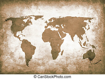 World grunge sepia map clipart and stock illustrations 63 world sepia grunge world map dirty brown grunge world map gumiabroncs Images