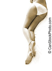 legs in sepia