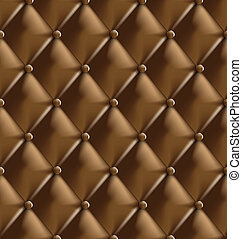 Genuine leather upholstery