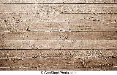 Sepia plank horizontal - Background from old wooden plank