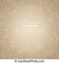 Sepia romantic frame.