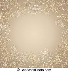 sepia, romantische, frame