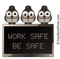Sepia work safe be safe - Sepia construction work safe be...