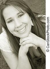Sepiatone Girl