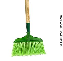 seprű, backgound, zöld white