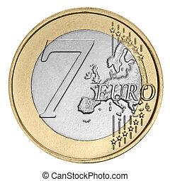 sept, euro, monnaie