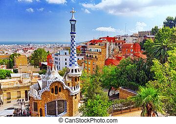 sept,  guel, parque,  -,  Barcelona,  02:gorgeous, asombroso