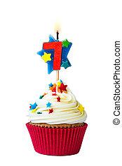 sept, nombre, petit gâteau