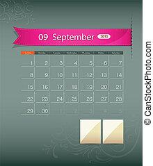 September 2013 calendar ribbon