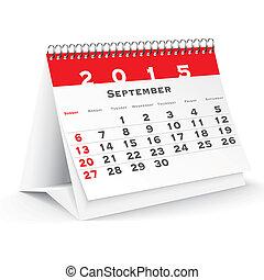 September 2015 desk calendar