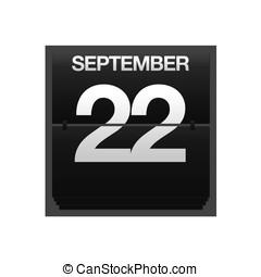 september, 22., kalender, toonbank