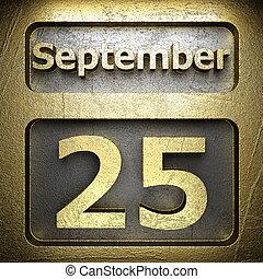 september 25 golden sign