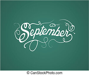september hand lettering - suitable for decorations