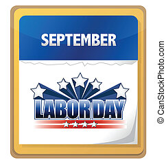 September labor day calendar illustration