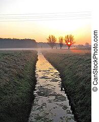 september morning - sunrise on a autumn morning