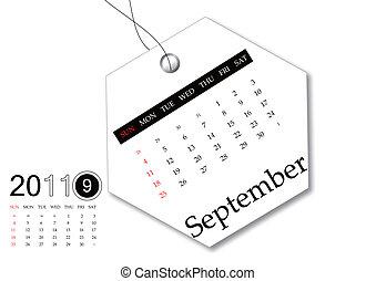 September of 2011 calendar