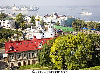 September view of Nizhny Novgorod Russia