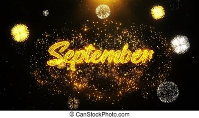 September Wishes Greetings card, Invitation, Celebration...