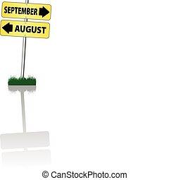 september x august