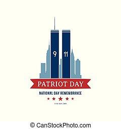 septembre, 11, patriote, jour, 2001.