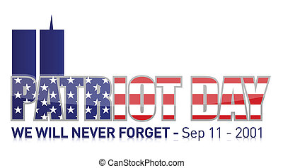 septembre, 11, patriote, jour, /