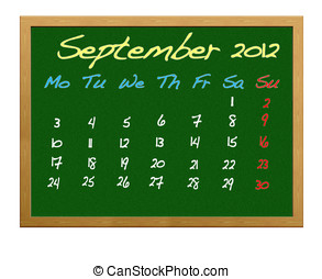 septembre, 2012.