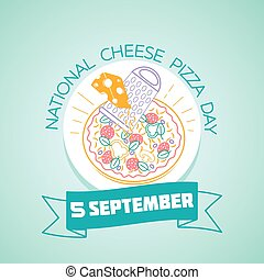 septembre, 5, pizza, jour, national, fromage