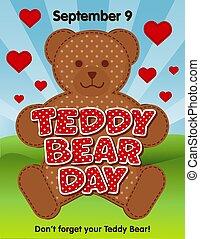 septembre, 9, jour, ours, teddy