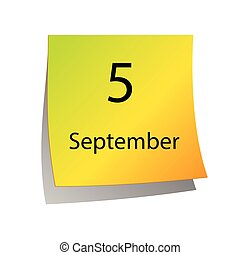 septembre, cinquième
