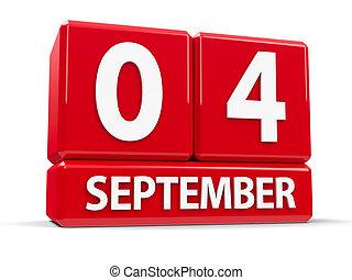 septembre, cubes, 4ème