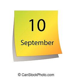 septembre, dixième