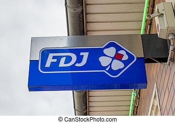 septembre, -france, signe, 09, francaise, jeux, paris, from, fdj, -, la, 2018:, bâtiment