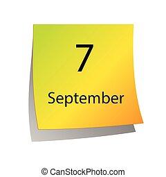 septembre, septième