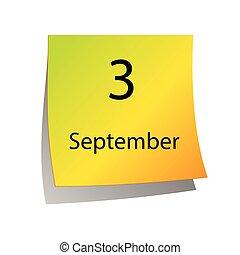 septembre, troisième