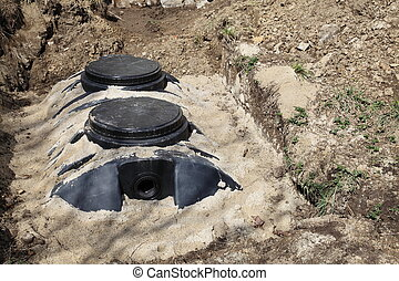 Septic Tank Domestic - A newly installed septic tank system...