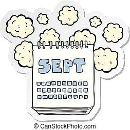 Calendario Dibujo Septiembre.Septiembre Actuacion Calendario Caricatura Mes