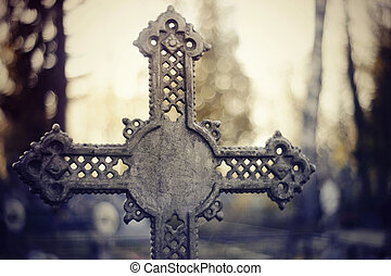 Sepulchral crosses at the cemetery