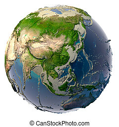 sequía, en, el, tierra de planeta