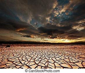 sequía, tierra