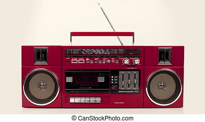 sequence made from amazing collection of different retro tvs, headphones, cassettes hifi's and ghettoblasters