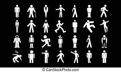 sequence male man people signs icons - a sequence made from ...