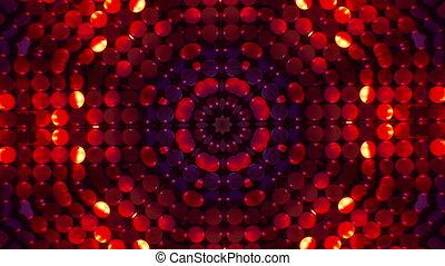 sequence., mandala-snowflake, miroir, jeûne, effet, rouges, prisme, kaléidoscope, formes, jouet, créer, arrière-plan., changer, lumières, résumé, kaleidoscopic., shimmering