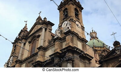 Sequence of Italian church, palermo, sicily, italy