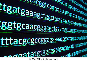 Sequencing of the genome in the laboratory. Sequence of...