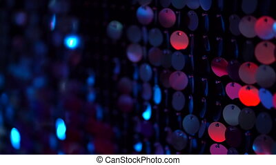 Sequins sparkling reflective background. Abstract kinetic...