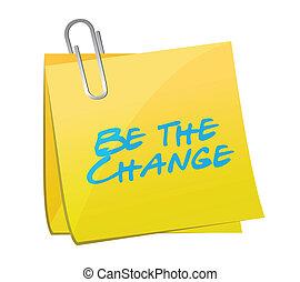 ser, a, mudança, poste, mensagem, ilustração, desenho