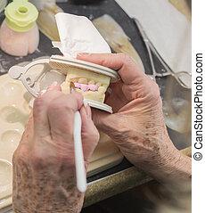 ser aplicable, dental, impreso, técnico, implante, molde, ...