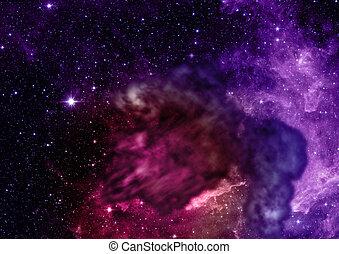 ser, brillado, nebula., 3d, interpretación